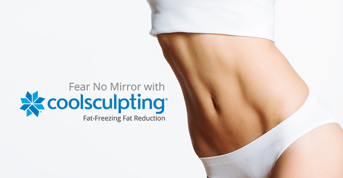 CoolSculpting® fat-freezing procedure, image of model showing a resulting body shape